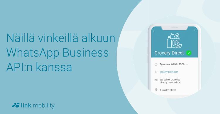 vinkit whatsapp business API:n käyttöön